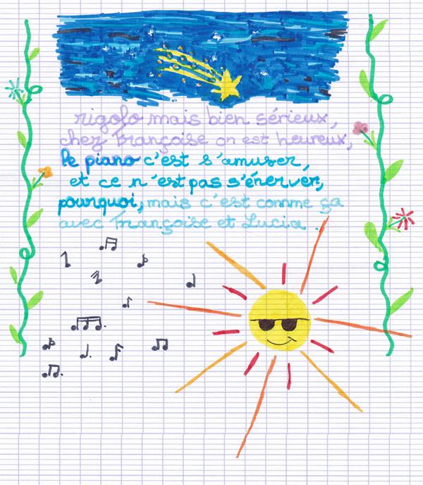 Poème illustré de Lucia